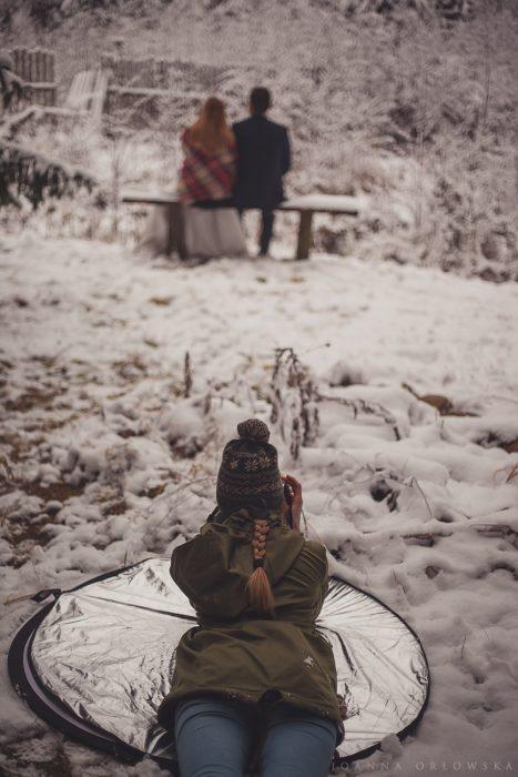 fotografia ślubna podlaskie, ślub, plener ślubny, zimowy plener ślubny, plener ślubny zimą