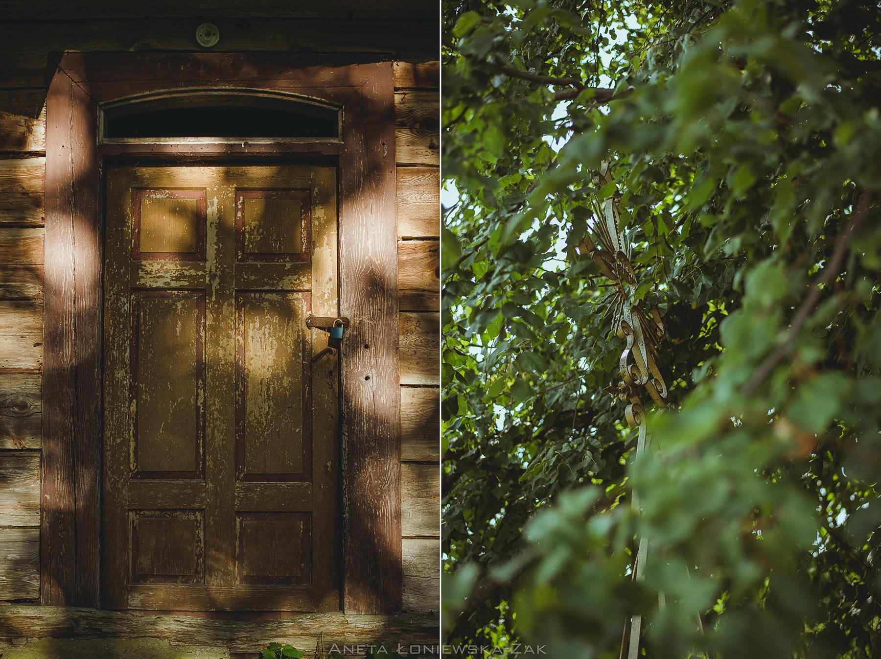 fotografia przyrodnicza, puszcza knyszyńska, podlasie, drewniany dom, krzyż stary